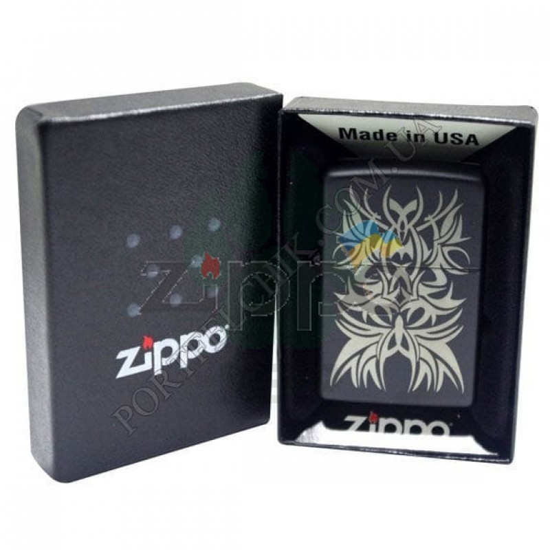 Зажигалка Zippo 28686 Black and Chrome